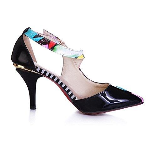 Adee Damen cross-body-strap pointed-toe Polyurethan Pumpen Schuhe, Blau - blau - Größe: 38