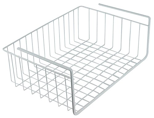 Metal Under Shelf Basket Storage Organizer Kitchen Pantry Closet Space Saver 16'' W x 10.25'' D x 5.3'' H by DINY Home Collections