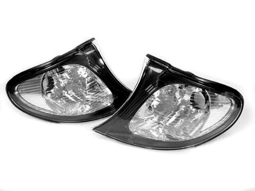 REVi MotorWerks Euro Style Black/Clear Corner Signal Lights by DEPO Fit 2002-2005 BMW E46 4 Door / 5 - Depo Bmw Lights