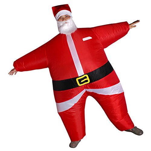 [Adult Cosplay Apparel Inflatable Santa Claus Costume SDCQF-01] (Inflatable Chub Suit Costume)