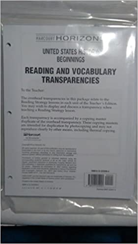 Harcourt Horizons Reading And Vocabulary Transparencies