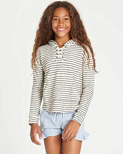 (Billabong Girls' Big Side Sweatshirt, Cool Whip, M)