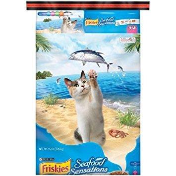 Purina friskies seafood sensations dry cat food, 16 lb