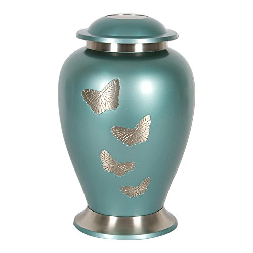 Perfect Memorials Medium Butterfly Gathering Brass Cremation Urn