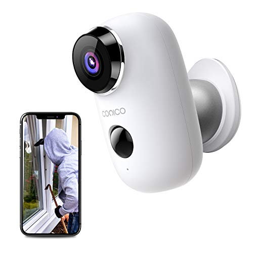 Wireless Rechargeable Battery Powered Outdoor Camera, CONICO 1080P Home Security Camera with 2-Way Talk, Wi-Fi IP Camera with Motion Detection Night Vision, Cloud Storage
