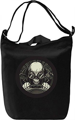 Racer skeleton Borsa Giornaliera Canvas Canvas Day Bag| 100% Premium Cotton Canvas| DTG Printing|