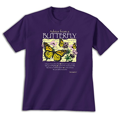 Advice From A Butterfly - Medium Ladies T-shirt Purple, Novelty Gift Apparel