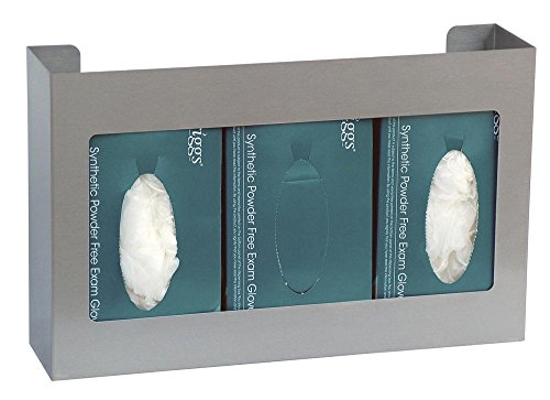 Stainless Steel Triple Side-By-Side Glove Box Holder