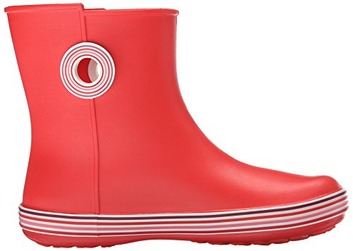 Crocs Jaunt Stripes Shorty W - botas sin forro de sintético mujer Rosso (Flame)