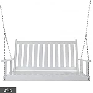 Dixie Seating Corolla 4 ft Slat Back Porch Swing - Quick Ship