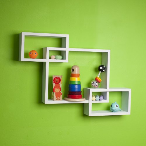 Danya B Yu008w Floating Squares Shelving Unit Wall