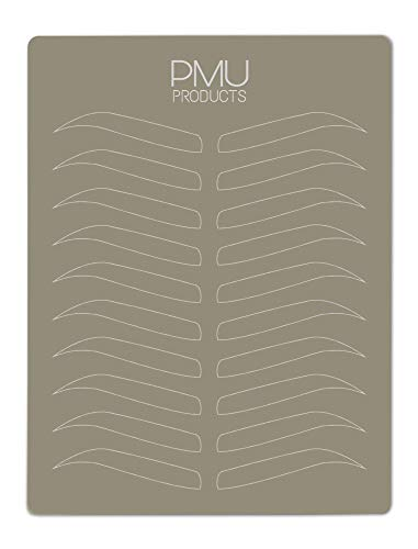(PMU Premium Microblading Practice Skin Double-Sided | Professional Realistic Hairstroke Tattoo Latex | Special Eyebrow Designs For Cosmetic Tattooing (White -)