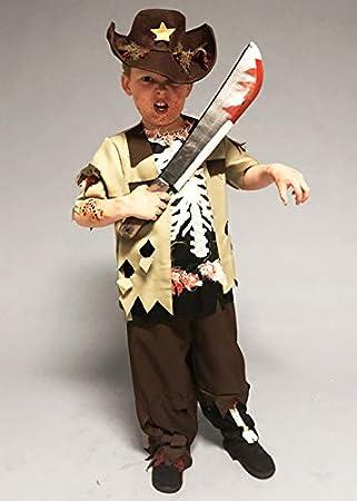 Delights Disfraz de Chico del Sheriff Zombie de Halloween para ...