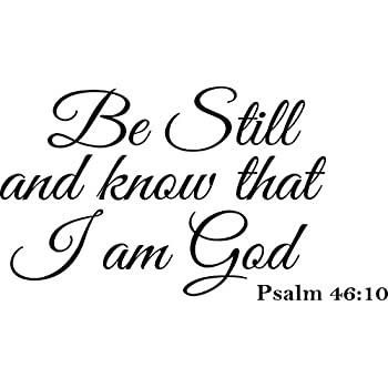 amazon wall decal quote be still and know that i am god psalm Sun Stands Still Joshua Battle Map wall decal quote be still and know that i am god psalm 46 10 vinyl