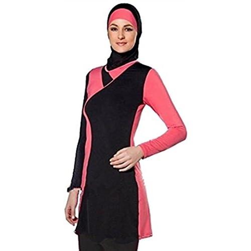 e73f93e90c2df YEESAM Muslim Swimwear for Women Girls Modest Islamic Hijab Swimsuits  Burkini SPF low-cost