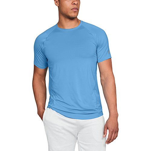 Under Armour Men's MK1 Gym Workout T-Shirt, Carolina Blue (475)/Steel, X-Large