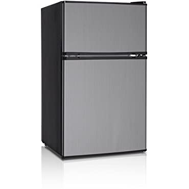 midea WHD-113F Double Reversible Door Refrigerator and Freezer, 3.1 Cubic Feet