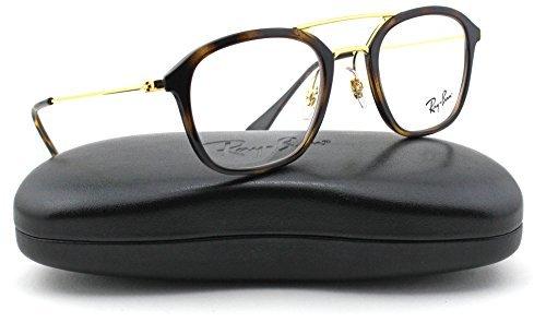 Ray-Ban RX7098 Square Unisex Eyeglasses (Havana Frame 2012, 50)