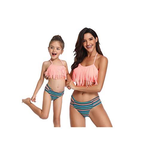 Damen Langarm Badeanzug Badebekleidung Hohe Taille Strandkleidung Bikini Set