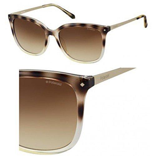 Yellow Havana Sunglasses (Polaroid Sunglasses Women's Pld4043s Polarized Square, Yellow Havana Gold, 57)