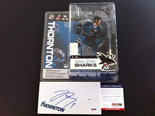 Joe Thornton Sharks Autographed Signed Mcfarlane Figure PSA/DNA Certified - Signed NHL Hockey Memorabilia