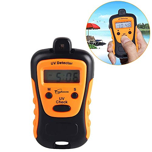 UV Intensity Meter,TOPCHANCES Portable High Precision Handheld UV Strength Tester UVC Measure Photometer UCB Detector with LCD Digtal Display