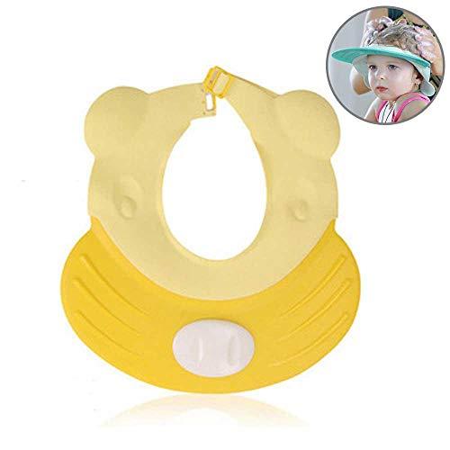 (Baby Shampoo Shower Bath Shower Visor Cap Hat - Adjustable, Comfortable, Soft, Flexible, Snug, Waterproof & Elastic Ring Hat, for Showers, Bathtub, Sun Bathing, Hair Cutting & Trimming, Pool,)
