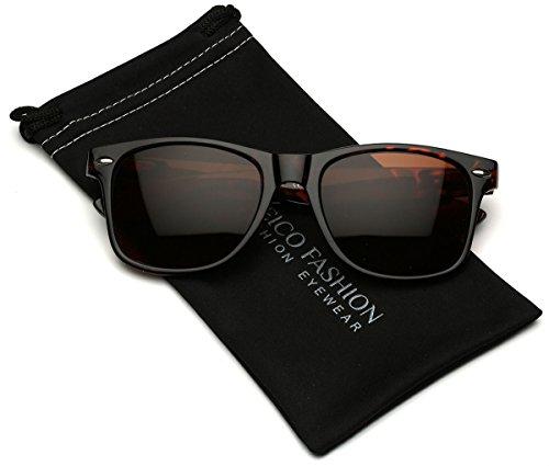 Iconic Horn Rimmed Retro Classic - Tortoise Sunglasses Shell Wayfarer