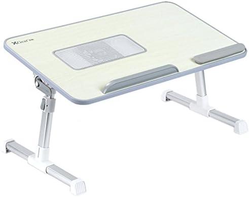 Totalmente ajustable Mesa portátil Panel MDF | Ordenador portátil Notebook soporte con una función de ventilador de refrigeración | XGear premium Altura ajustable plegable Bandeja Lap Desk (gris): Amazon.es: Hogar