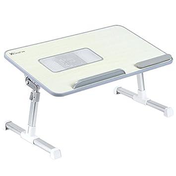 Totalmente ajustable Mesa portátil Panel MDF | Ordenador portátil Notebook soporte con una función de ventilador de refrigeración | XGear premium Altura ...