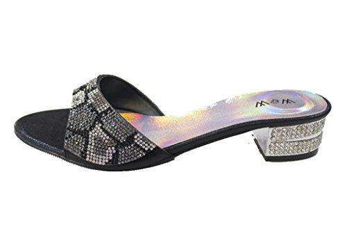 Wear & Walk UK - Sandalias de vestir para mujer negro - negro