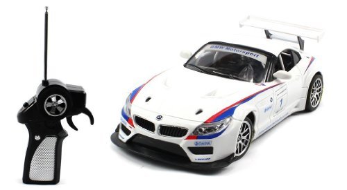 1/18 BMW Z4 GT3 Radio Remote Control Car Authentic Body Styling with Lights (White)
