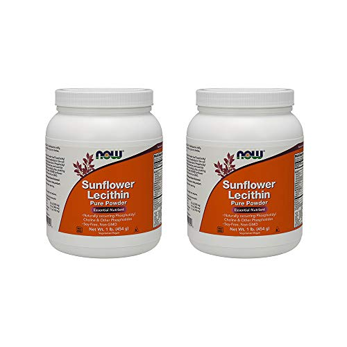 Now Foods, (2 Pack) Sunflower Lecithin, Pure Powder, 1 lb (454 g) ()