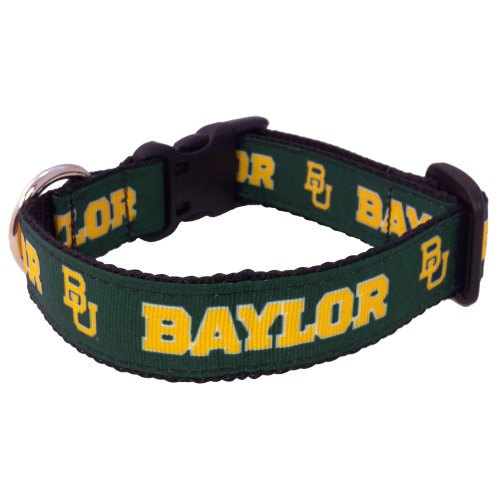 All Star Dogs NCAA Baylor Bears Collegiate Dog Collar (Large)