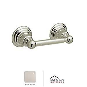 Rohl ROT18STN Country Bath Single Spring Loaded Toilet Paper Holder in Satin Nickel