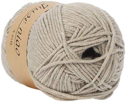 FiedFikt Hilo de algodón tejido a mano 50 g lana de algodón de ...