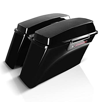 Amazon.com: Craftride - Hard saddlebags with Speakers, Black - Compatible with Harley Davidson CVO/Electra Glide/Road Glide/Road King/Street Glide ...