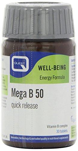 Quest Mega B-50 Vegan - Pack Of 30 Tablets