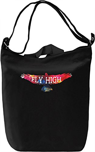 Fly High Borsa Giornaliera Canvas Canvas Day Bag| 100% Premium Cotton Canvas| DTG Printing|