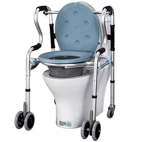 Folding Lightweight Commode Chair Aluminium Bathroom