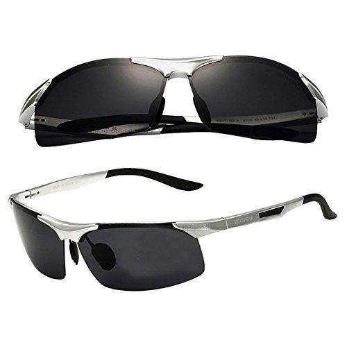 Silver 2015 Aluminium Polarized Sunglasses Aviator Wayfarer Outdoor Driving Sun - With Deal Sunglasses It Transparent