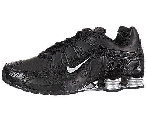 Air Max Shox (NIKE Shox Turbo 3.2 SL Mens Running Shoes [455541-090] Black/Metallic Silver Mens Shoes 455541-090-11)