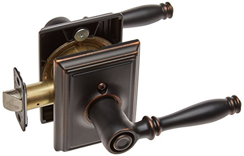 Schlage Lock Company F40BIR716ADD Addison Collection Birmingham Aged Bronze Bed and Bath Lever - Door (Bronze Addison Button)