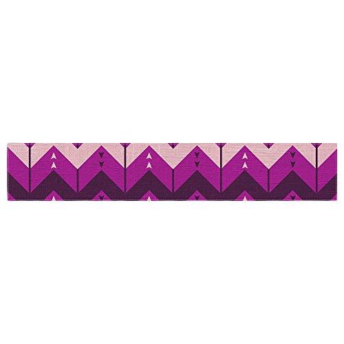 KESS InHouse Nick Atkinson ''Chevron Dance Purple'' Table Runner, 16'' x 180'' by Kess InHouse