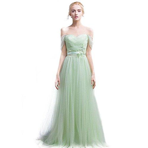 Elegantes Linie Herz Burgund Grun kleid Langes Auschnitt Abendkleid A Brautjungfer Tüll Ballkleider Aiyana Prom 4wqdt4