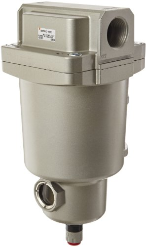 SMC AMG550C-N10BC Water Separator, N.C. Auto Drain, 3,700 L/min, 1'' NPT, Mounting Bracket by SMC Corporation