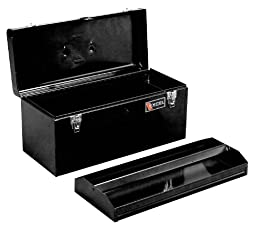 Excel TB140-Black 20-Inch Portable Steel Tool Box, Black
