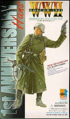 Dragon Models 1st Anniversary - HANS World War 2 Wehrmacht Infantry NCO (Feldwebel) Moscow 1941 - 1/6 scale (12 inch) Action Figure