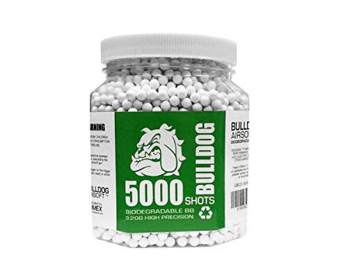 BULLDOG 5000 Airsoft Pellets [0.20g] Biodegradable [6mm White] Triple Polished [Pro Team (High Grade 5000 Bbs)