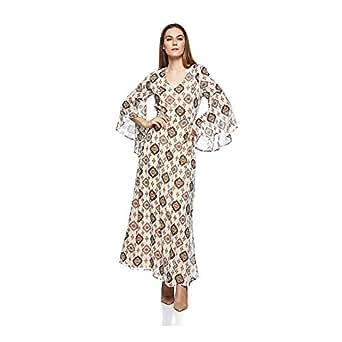 Mela London-ML3735-Women-Maxi Dress-Beige-14 UK